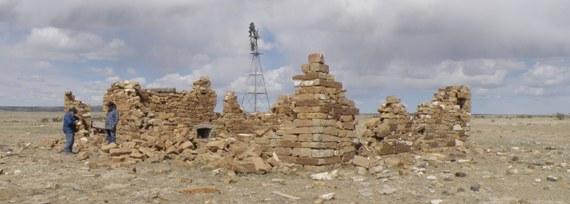 Surveying a homestead in Las Animas County